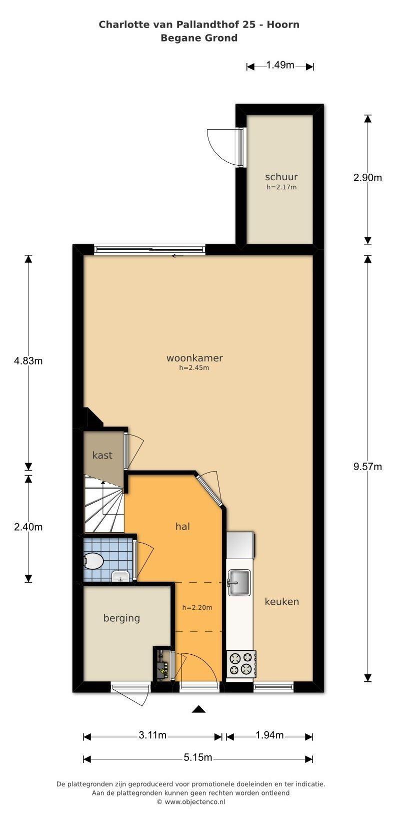 1628ZG Hoorn, Nederland, 4 Bedrooms Bedrooms, ,Huis,Koop,Charlotte van Pallandthof,1216